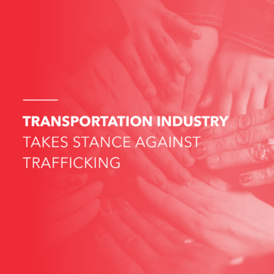 highlighting the purpose of standing together against human trafficking