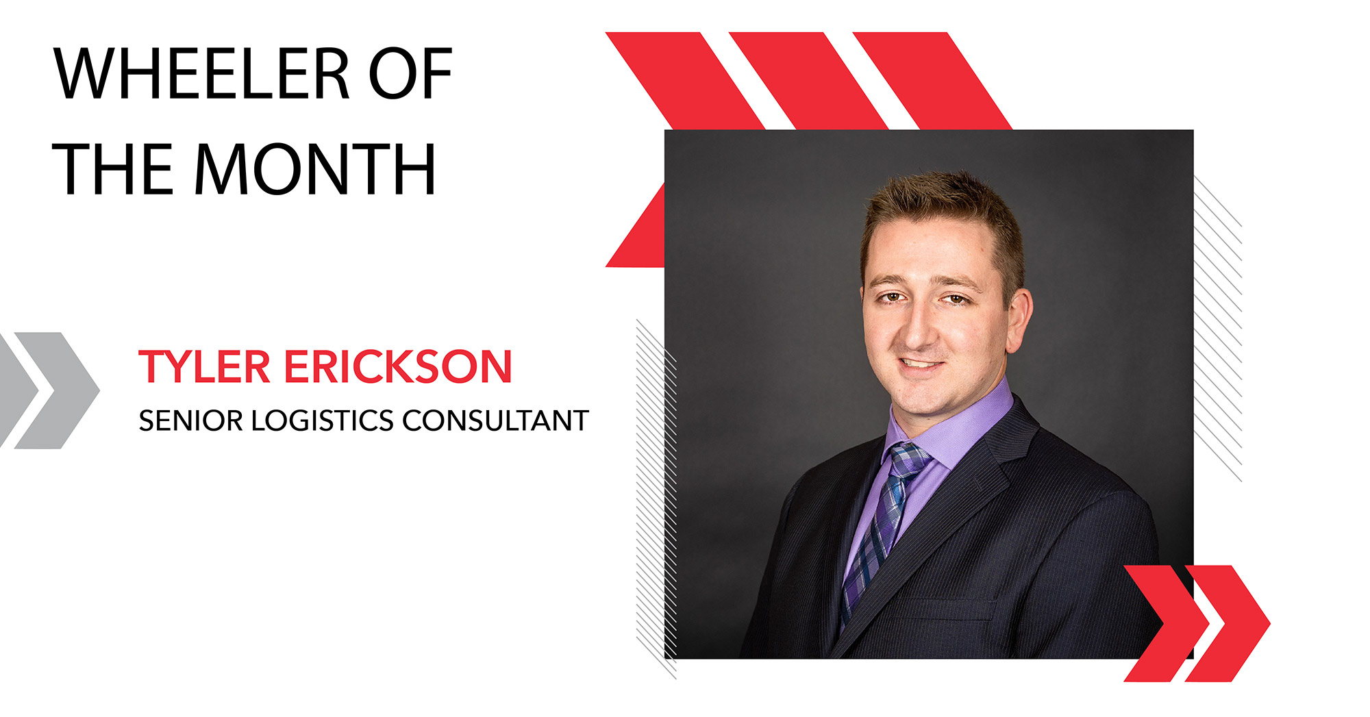Tyler Erickson is Fifth Wheel Freight's Wheeler of the Month