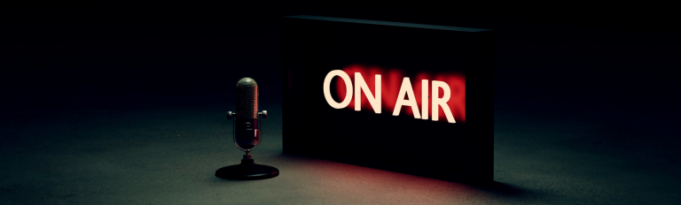 On air sign.