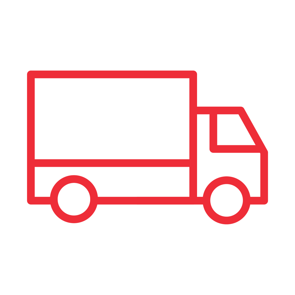 Red truck icon.