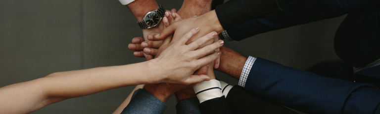 Hands in together as a team, Inc. 500 fastest growing company.