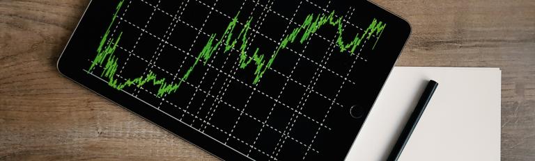 Analytics on an iPad.